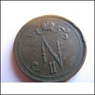 10 penniä 1896.