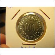 100 markkaa 1959.