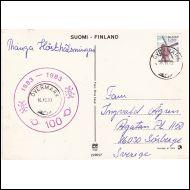 ÖVERMARK LOISTOLEIMA + POSTI 100 V. LISÄLEIMA KORTILLA 1983