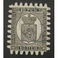 1866 10 penniä leimattu