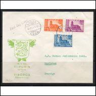 1941 Viipuri HIENOLAATUINEN FDCRuotsiin Lape 60 e !!!