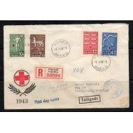 1943 PR HIENO FDC Ruotsiin Lape 90 e !!!