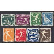 HOLLANTI Mi 205-212 * ( **= 190 € ) olympia 1928