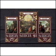 St.Lucia 3 kpl. postituoreena