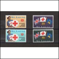 St.Lucia 4 kpl. postituoreena