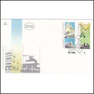 ISRAEL 1990 Arkkitehtuuri -srj FDC (merkit Mi 3€)