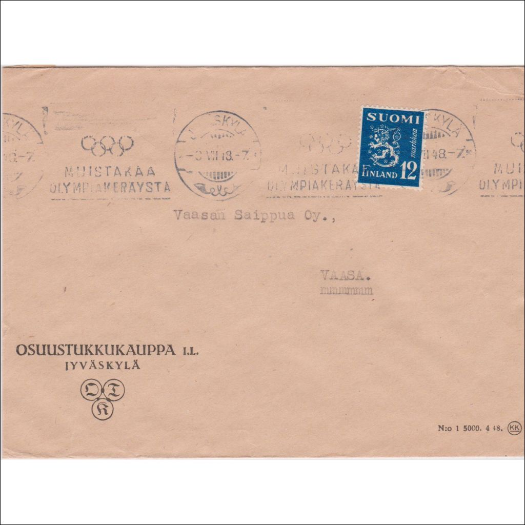 Postimaksut 2021 Kirje