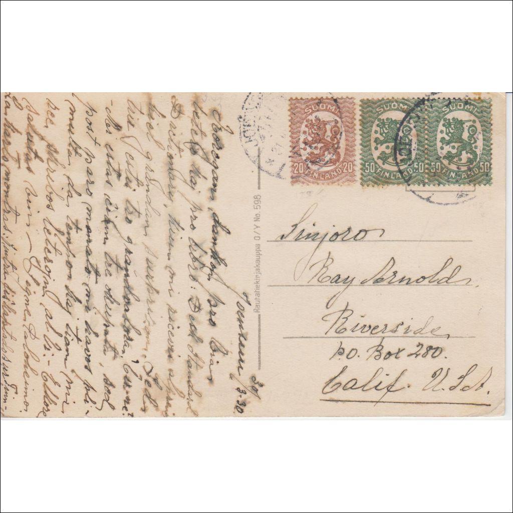 Postikortti Ulkomaille